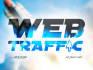 drive 500 unique visits web traffic low bounce rate