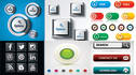 design stylish buttons and icons for apps or webs