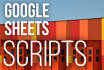 do scripting in Google Sheets and more