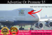 add your business banners and logo on a 747 airplane