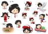 draw illustration sticker emoticon and emojis