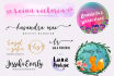 create an elegant signature or watercolor logo for your website or blog