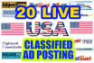 post your Ads on 20 top rated USA classified website
