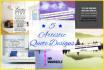 design 5 artistic QUOTE designs in 24 hours