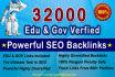 build 32000 High Pr Edu and Gov backlinks  With GSA