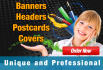 design any type of Cover, Postcard, Banner, Header