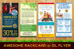 design awesome rack card or DL flyer or giftcard