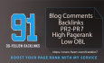 submit exclusive 91 high pr blog comments PR 2to7 manual