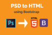 convert psd to bootstrap responsive