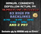 manually build 63 Actual highPR backlinks with PR7