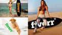 display your Logo or on Surfboard with hot Bikini Girl