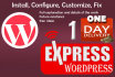 install,configure and fix WordPress