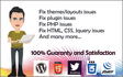 fix your html,css,php,wordpress ISSUES