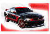 create awesome color illustrator of a car