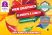 do stunning web GRAPHICS and elements