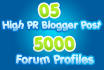 2 Tier Seo Pyramid High Pr Blogger Post and Forum Profiles