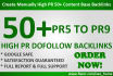 create Manually High PR 50 Content Based Backlinks