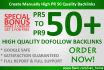 create Manually High PR 50 Quality Backlinks