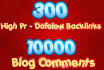 run Google Safe SEO Pyramid of 300 High Pr Dofollow Links and 10k Blog Comments