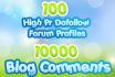 do a 2 Layer Seo Link Pyramid of 100 Dofollow High Page rank Forum profiles