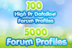 do a TWO Layer Seo Pyramid with 100 Dofollow links and 5k forum Profiles