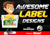 design awesome label for you