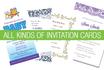 design all kinds of invitation cards