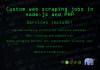 build a custom web scraper in nodejs or PHP