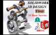 do SOLIDWORK model with 100 percent  satisfactory