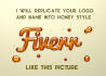 photoshop text effect for Honey Style