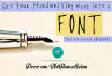 turn your Handwriting into a Font file