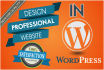 create wordpress website with your theme