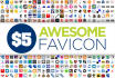 create an AWESOME favicon for your website