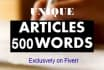research and write an SEO article of unique content