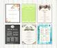 design food menu cards