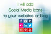 add social media icons on your website