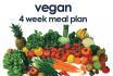 give you a 4 week vegan meal plan