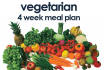 give you a 4 week vegetarian meal plan