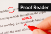 proofread any document, book or article