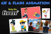 create GIF, Flash and Characters animation
