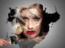 create paint,water and ink portraits for HD photos