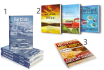 do 3 different 3D book cover from flat cover