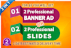 design attractive slides, banner ads