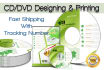 design dvd or cd case cover design