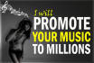 promote your Music up to over 1000K Music Lovers on Facebook