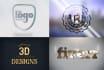 create 20 different photorealistic 3d logo mockups