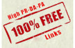 give 550 free high PR domains backlink list