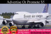 add your banners and logo on business Airplane