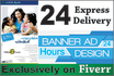 design 3 creative versions of banner and poster