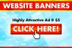 design attention grabbing banner ad for website